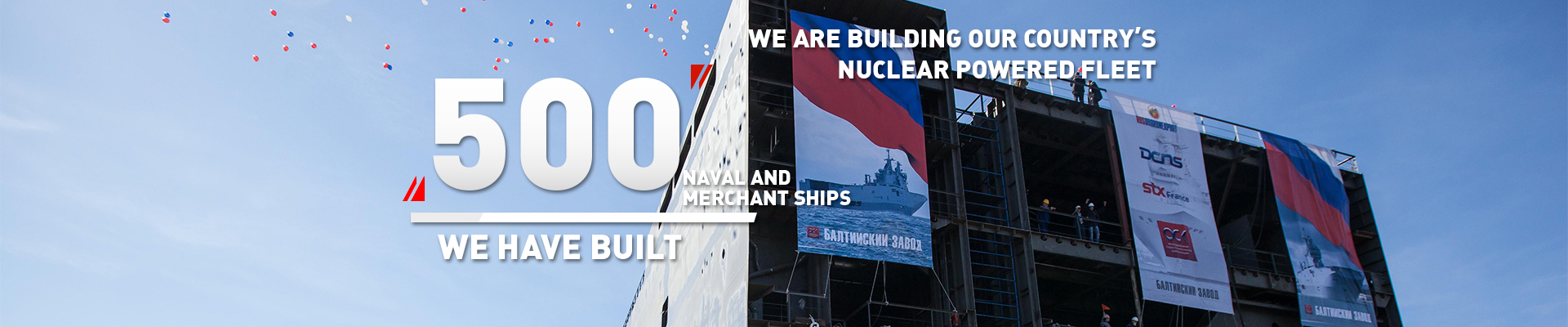 500 naval and merchant ships we have built