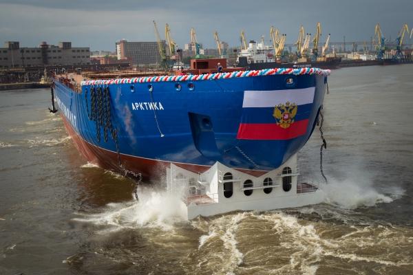 Балтийский завод спустил на воду самый большой в мире атомный ледокол